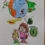 Praca plastyczna zanieczyszczona Ziemia