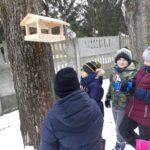 dokarmianie ptaków przez uczniów