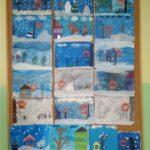 zima - galeria prac plastycznych uczniów klasy 2 a