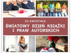 plakat na Światowy Dzień Książki i Praw Autorskich
